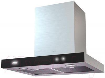 Вытяжка Т-образная KRONAsteel Paola 60 Sensor (нержавеющая сталь/черный) - общий вид