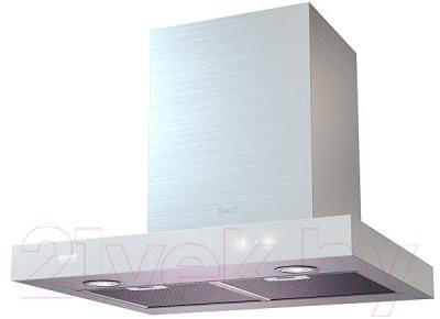 Вытяжка Т-образная KRONAsteel Paola 60 Sensor (нержавеющая сталь/белый) - общий вид