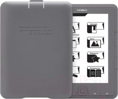 Электронная книга TeXet TB-137SE (4Gb, Gray) - с верхней крышкой