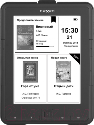 Электронная книга TeXet TB-137SE (4Gb, Black) - общий вид