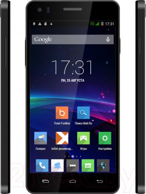 Смартфон TeXet X4 / TM-5082 (черный) - с боковыми панелями