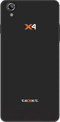 Смартфон TeXet X4 / TM-5082 (черный) - вид сзади