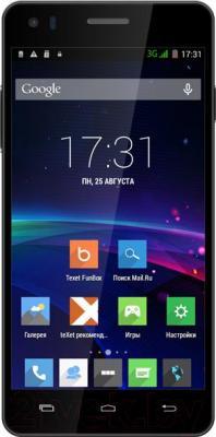 Смартфон TeXet X4 / TM-5082 (черный) - общий вид