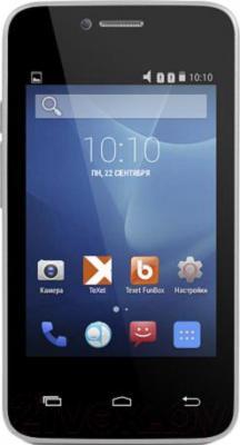 Смартфон TeXet X-mini / TM-3504 (белый) - общий вид