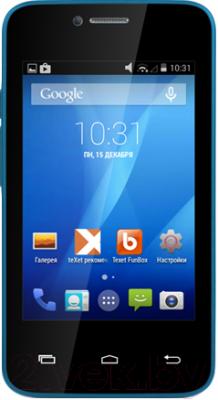 Смартфон TeXet X-mini / TM-3504 (голубой) - общий вид