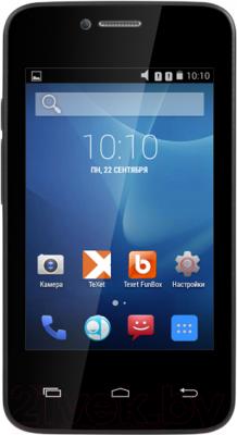 Смартфон TeXet X-mini / TM-3504 (черный) - общий вид