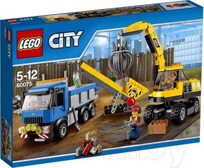 Конструктор Lego City Экскаватор и грузовик (60075) - упаковка