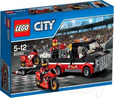 Конструктор Lego City Перевозчик гоночных мотоциклов (60084)  - упаковка