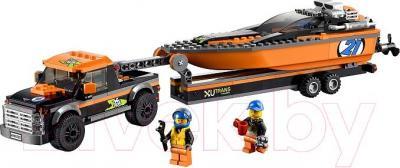 Конструктор Lego City Внедорожник 4x4 с гоночным катером (60085) - общий вид