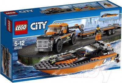 Конструктор Lego City Внедорожник 4x4 с гоночным катером (60085) - упаковка