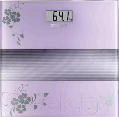 Напольные весы электронные Scarlett SC-BS33E060V (фиолетовый) - общий вид