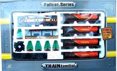 Железная дорога детская Fenfa Поезд с четырьмя цистернами (1601B-2A) - в упаковке