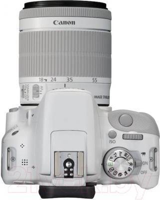 Зеркальный фотоаппарат Canon EOS 1100D Kit 18-55mm IS  (White) - вид сверху