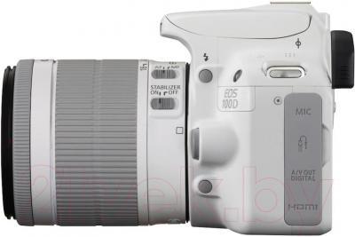 Зеркальный фотоаппарат Canon EOS 1100D Kit 18-55mm IS  (White) - вид сбоку