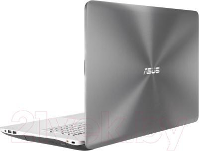 Ноутбук Asus N751JK-T4168D - вид сзади