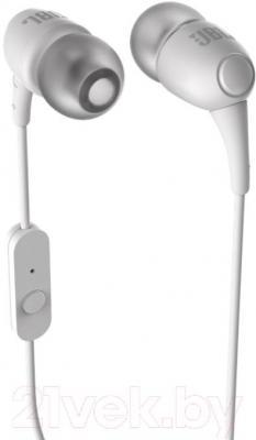 Наушники-гарнитура JBL T100A (White) - общий вид