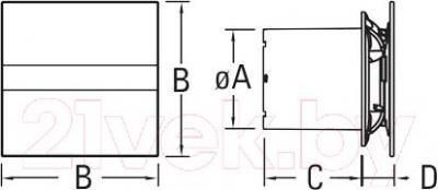 Вентилятор вытяжной Cata E-100 B - схема