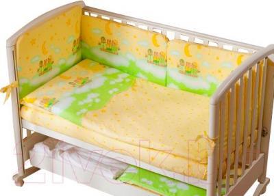 Комплект в кроватку Perina Аманда А3-02.1 (Ночка салатовый) - бампер в комплект не входит