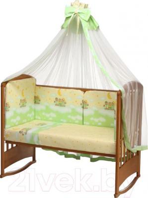 Комплект в кроватку Perina Аманда А3-02.1 (Ночка салатовый) - балдахин и бампер в комплект не входят