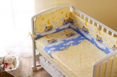 Комплект в кроватку Perina Аманда А3-02.4 (Ночка голубой) - бампер не входит в комплект