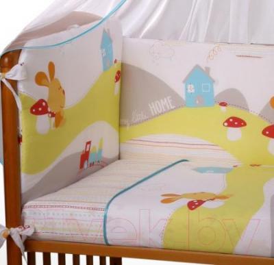 Комплект в кроватку Perina Кроха К3-02.0 (Веселый кролик) - рисунок