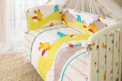 Комплект в кроватку Perina Кроха К3-02.0 (Веселый кролик) - бампер не входит в комплект
