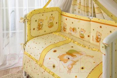 Комплект в кроватку Perina Ника Н3-01.2 (Мишка на подушке бежевый) - бампер и балдахин не входят в комплект