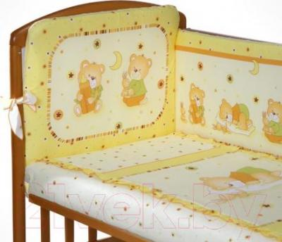 Комплект в кроватку Perina Ника Н3-01.2 (Мишка на подушке бежевый) - рисунок (бампер не входит в комплект)