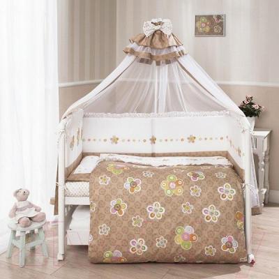 Комплект в кроватку Perina Тиффани Т3-02.0 (Цветы) - балдахин и бампер не входят в комплект