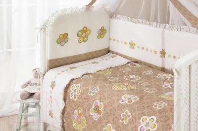 Комплект в кроватку Perina Тиффани Т3-02.0 (Цветы) - бампер не входит в комплект