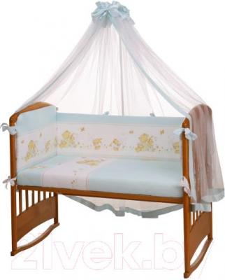 Комплект в кроватку Perina Фея Ф3-01.4 (Лето голубой) - балдахин и бампер не входят в комплект