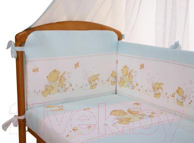 Комплект в кроватку Perina Фея Ф3-01.4 (Лето голубой) - рисунок