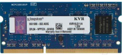 Оперативная память DDR3 Kingston KVR16LS11/4 - общий вид