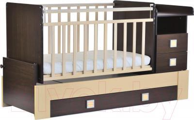 Детская кровать-трансформер СКВ 830038-5 (венге-береза) - общий вид