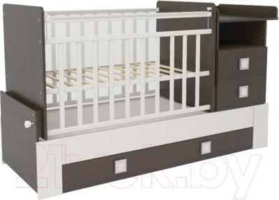 Детская кровать-трансформер СКВ 830038-1 (венге-белый) - общий вид