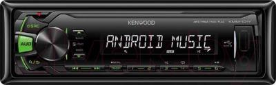 Бездисковая автомагнитола Kenwood KMM-101GY - фронтальный вид