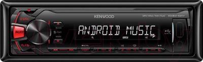 Бездисковая автомагнитола Kenwood KMM-101RY - фронтальный вид