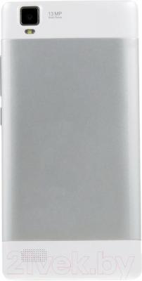 "Смартфон DEXP Ixion M 5"" (белый) - вид сзади"