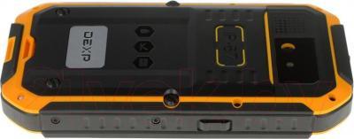 """Смартфон DEXP Ixion P 4"""" (черно-желтый) - вид сбоку"""