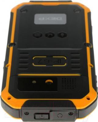 """Смартфон DEXP Ixion P 4"""" (черно-желтый) - вид сверху"""