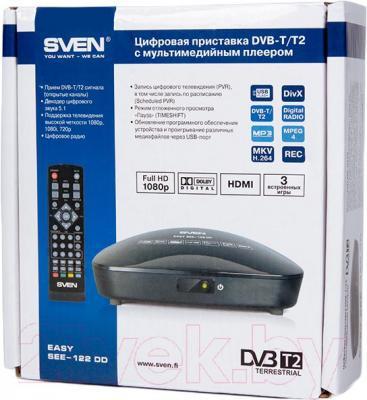 Тюнер цифрового телевидения Sven EASY SEE-122 DD - упаковка