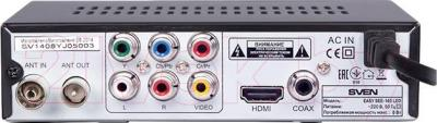 Тюнер цифрового телевидения Sven SEE-149 LED - вид сзади