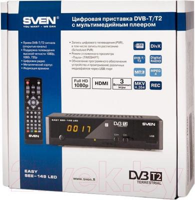 Тюнер цифрового телевидения Sven SEE-149 LED - упаковка