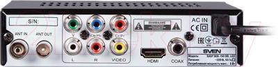 Тюнер цифрового телевидения Sven EASY SEE-150 DD LED - вид сзади