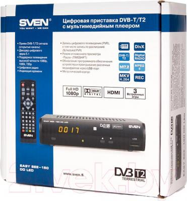 Тюнер цифрового телевидения Sven EASY SEE-150 DD LED - упаковка