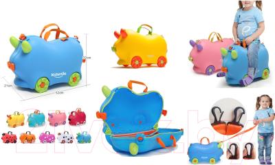 Детский чемодан Kidsmile AX22 (Yellow)