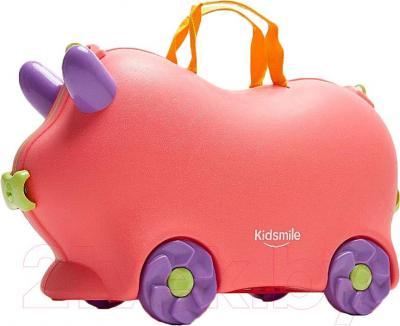 Детский чемодан Kidsmile AX21 (Pink) - общий вид