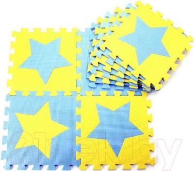 Коврик-пазл KidsTime MD1255 (желто-синий) - общий вид