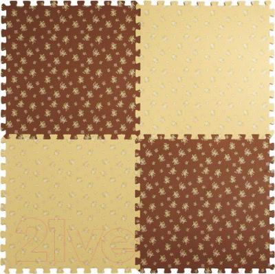 Коврик-пазл KidsTime MD1465 (бежево-коричневый) - общий вид
