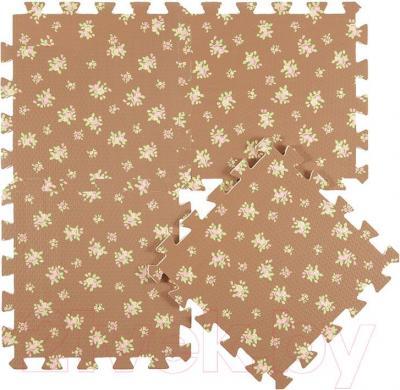 Коврик-пазл KidsTime MD1465 (бежево-коричневый) - коричневый элемент
